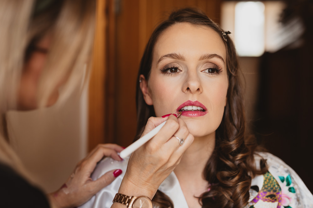 Bride Bridal Make Up Clear Marquee Wedding Sarah Brookes Photography