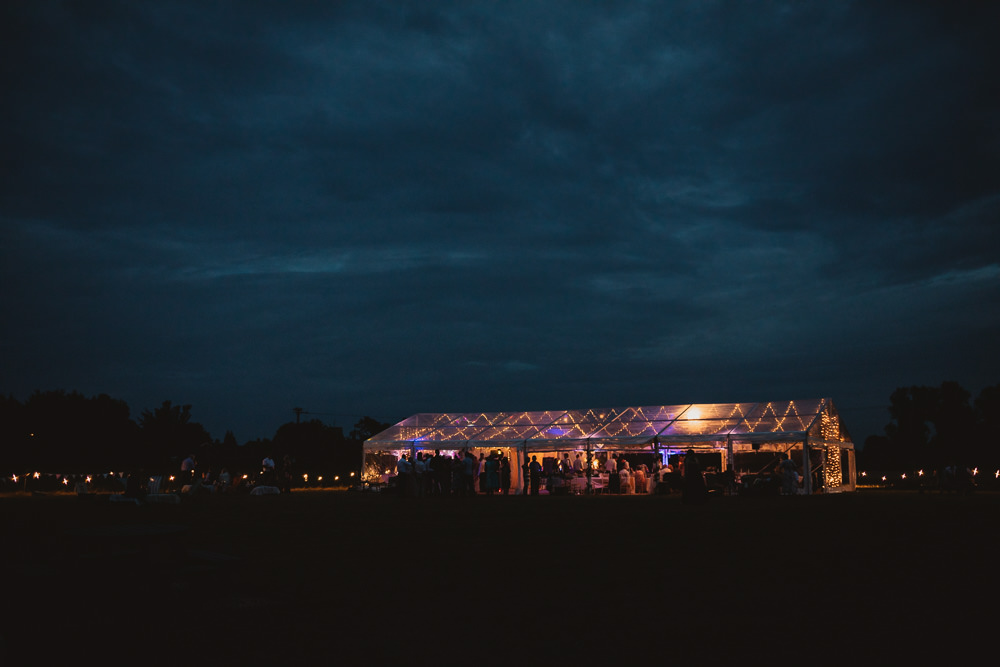 Lights Lighting Clear Marquee Wedding Sarah Brookes Photography