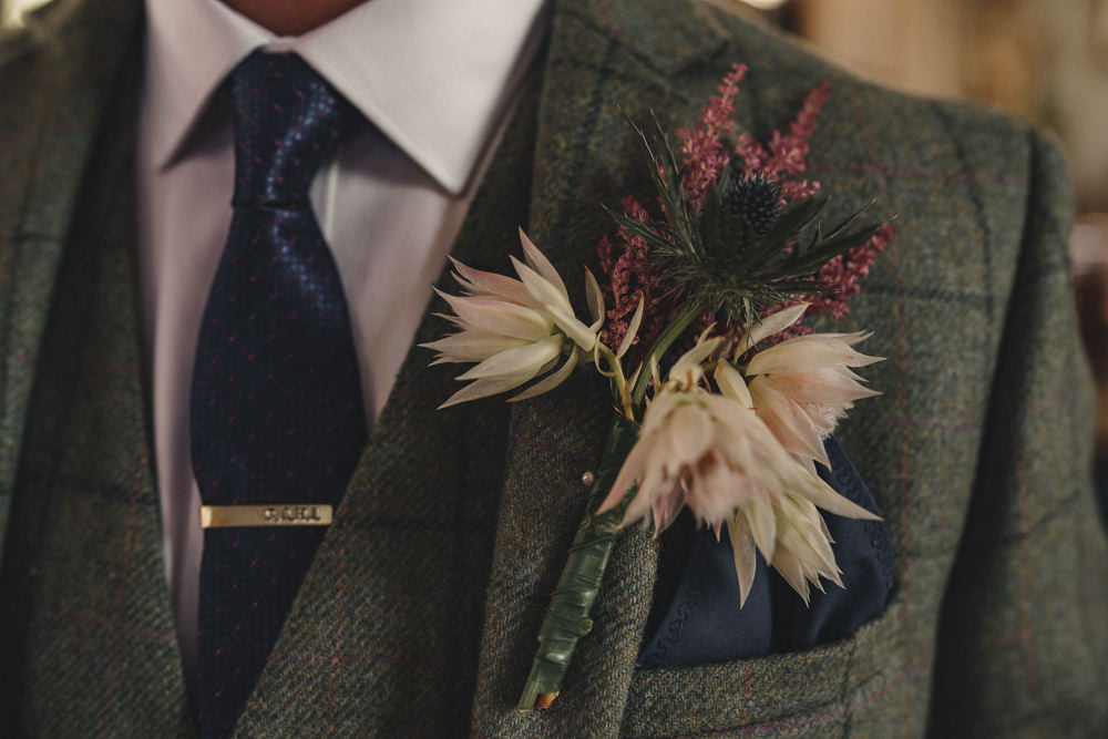 Buttonhole Flowers Groom Groomsmen Marquee Wedding Home The Chamberlins