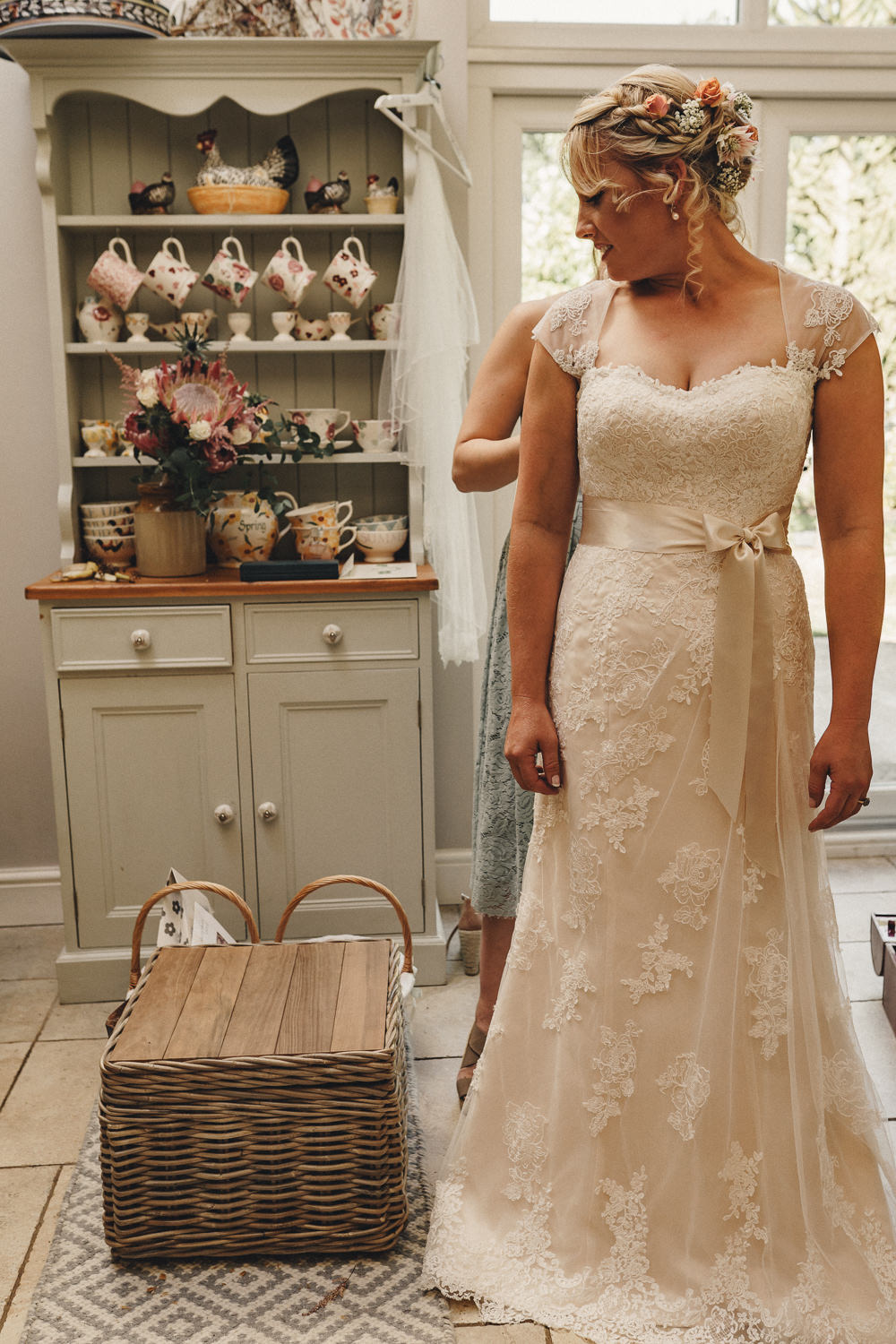 Dress Gown Bride Bridal Lace Ribbon Sash Bow Train Marquee Wedding Home The Chamberlins