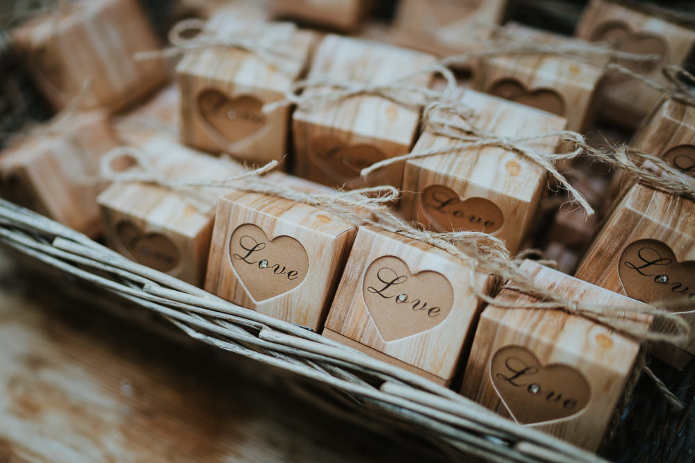 Wooden Box Favours Micro Wedding Nicola Dawson Photography
