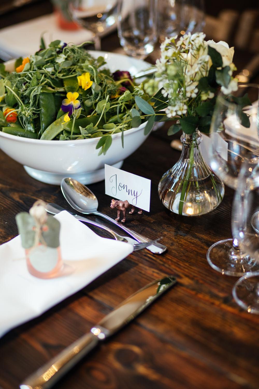 Place Name Card Setting Oak Barn Wedding Matilda Delves Photography
