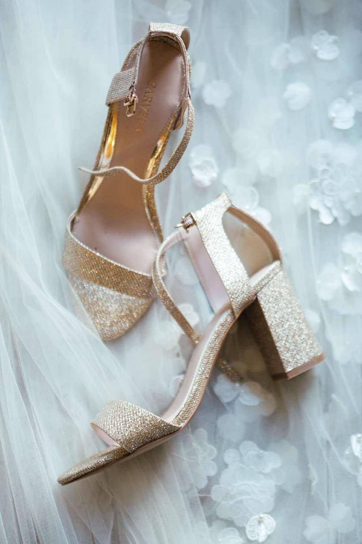 Gold Glitter Shoes Oak Barn Wedding Matilda Delves Photography