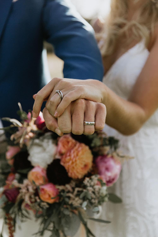 Rings Bands Bride Groom Summer Boho Wedding Wild Tide Weddings