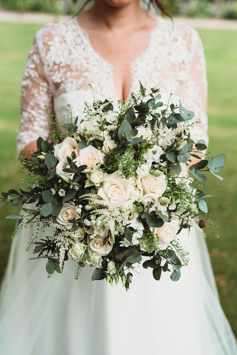 Bouquet Flowers Bride Bridal Pink Rose Astilbe Greenery Foliage Whinstone View Wedding Emma Adamson Photography