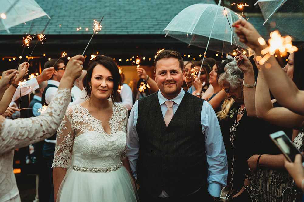 Sparklers Send Off Sparkler Exit Whinstone View Wedding Emma Adamson Photography