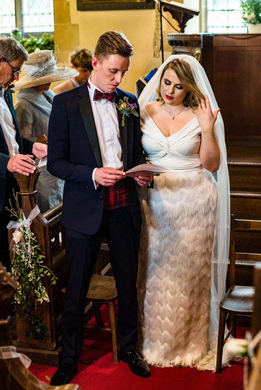 Dress Gown Bride Bridal Halfpenny London Tassel Fringe Anstey Hall Wedding Jonny Barratt Photography