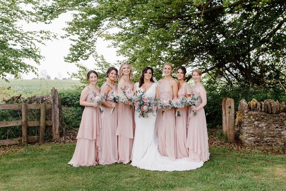 Bridesmaids Bridesmaid Dress Dresses Pink Cotswolds Marquee Wedding Jessy Papasavva Photography