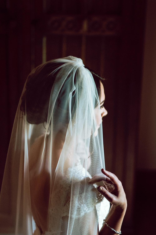 Bride Bridal Veil Dalduff Farm Wedding Northern Aye Photography