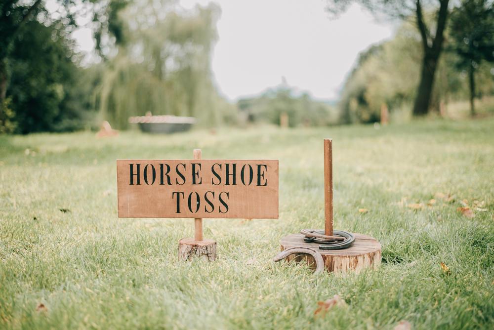 Fete Game Horse Shoe Toss Eco Friendly Wedding Inspiration Sarah Jayne Photography