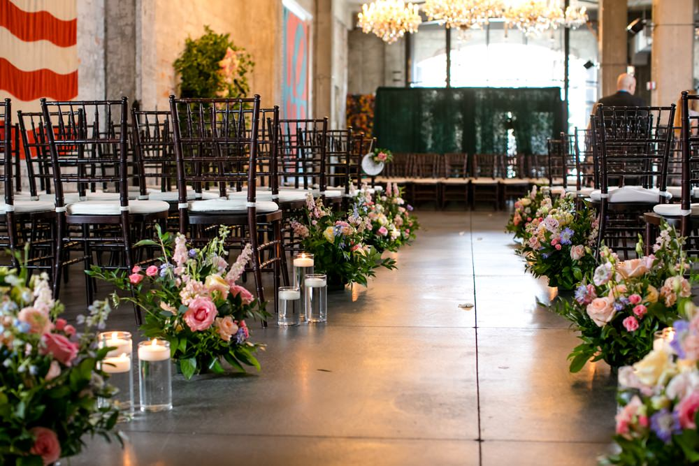 Ceremony Aisle Flowers Candles Floral Minneapolis Wedding Jeannine Marie Photography