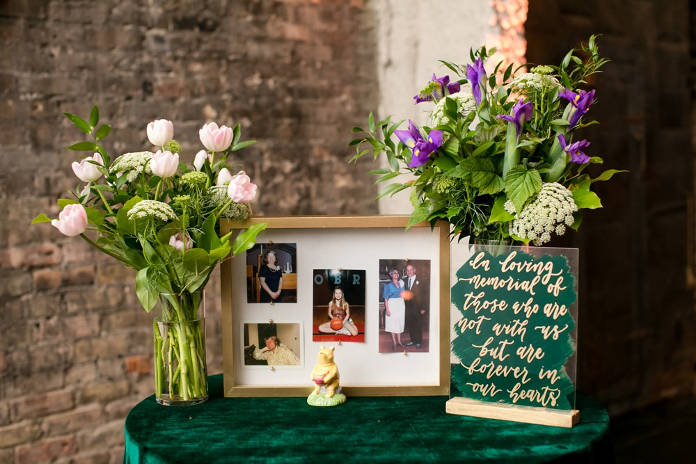Remember Memory Table Floral Minneapolis Wedding Jeannine Marie Photography