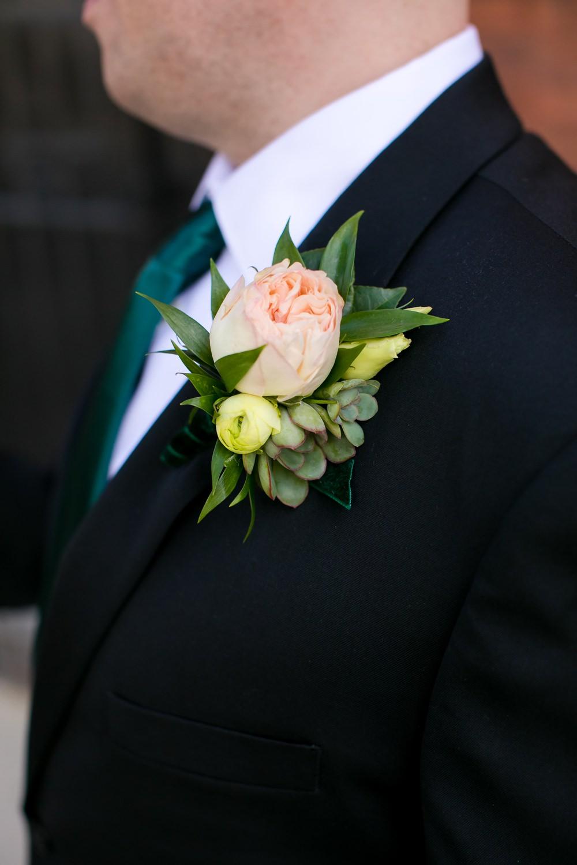 Groom Groomsmen Buttonhole Flowers Floral Minneapolis Wedding Jeannine Marie Photography