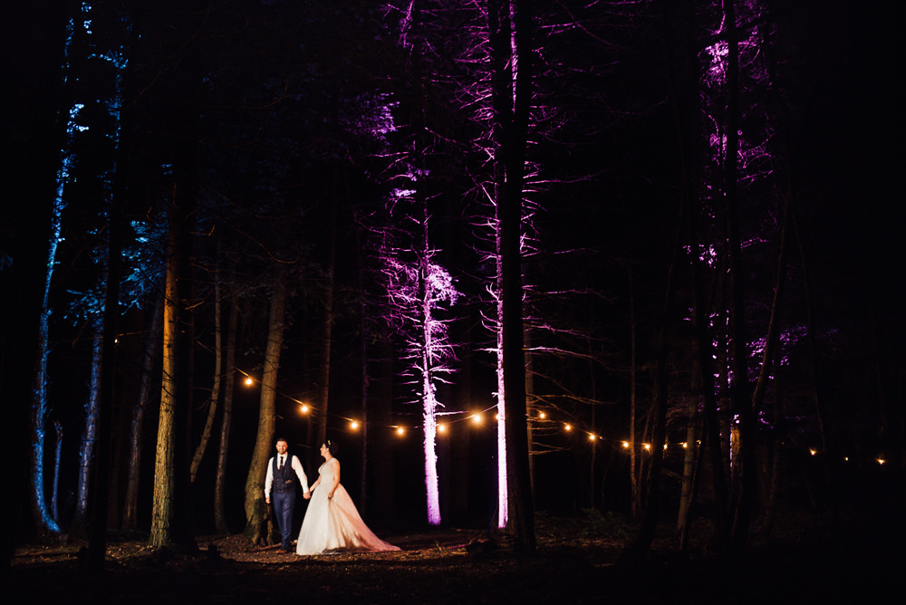 Festoon Lights Lighting Longton Wood Wedding Alex Tenters Photography