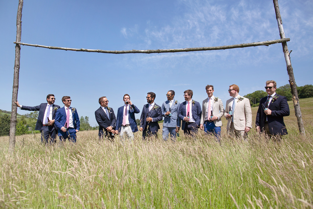 Groom Groomsmen Suits Rustic Tipi Wedding Cotton Candy Weddings