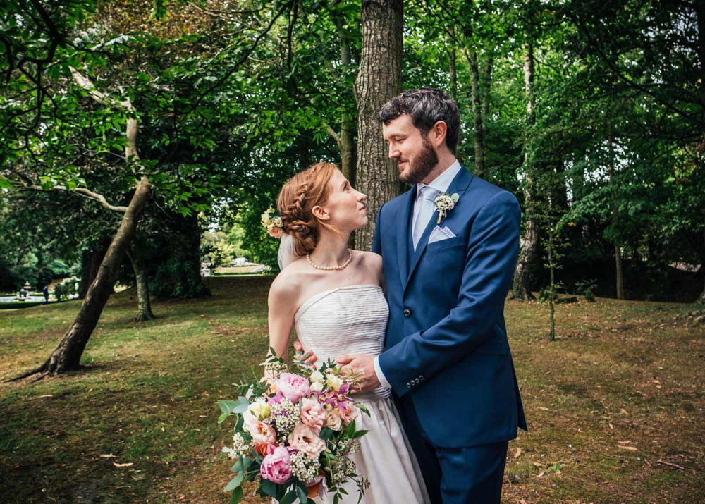 Groom Suit Blue Tie Tinakilly Country House Wedding Conor Brennan Photography