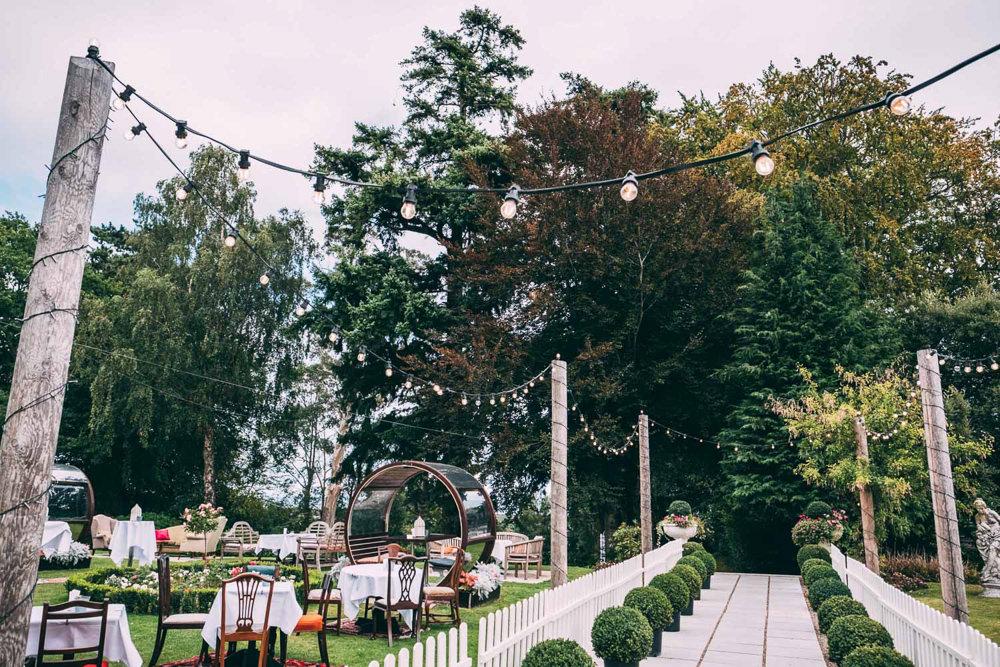 Festoon Lights Lighting Tinakilly Country House Wedding Conor Brennan Photography