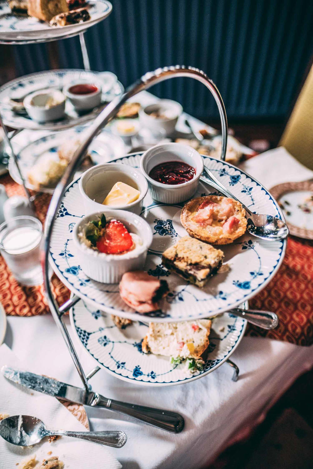 Afternoon Tea Tinakilly Country House Wedding Conor Brennan Photography