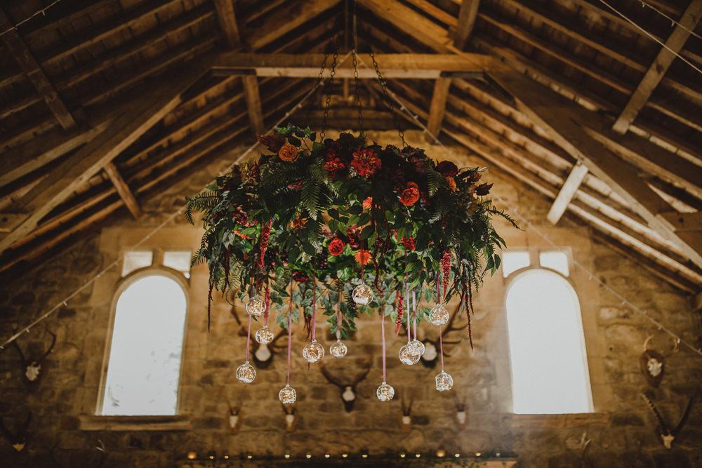 Hanging Flower Hoop Wiltshire Barn Wedding Photography34