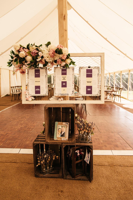 Table Plan Seating Chart Flowers Wonwood Barton Wedding Emma Barrow Photography