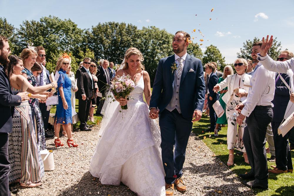 Confetti Wonwood Barton Wedding Emma Barrow Photography