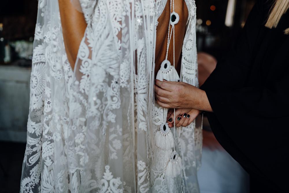 Dress Gown Bride Bridal Rue De Seine Medina Lace Aquapetra Resort Spa Wedding Peter Hughes Photography