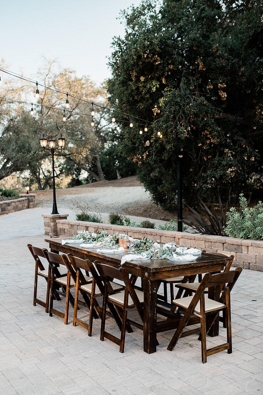 Table Garland Runner Decor Greenery Foliage California Ranch Wedding WildflowerPhotoCo
