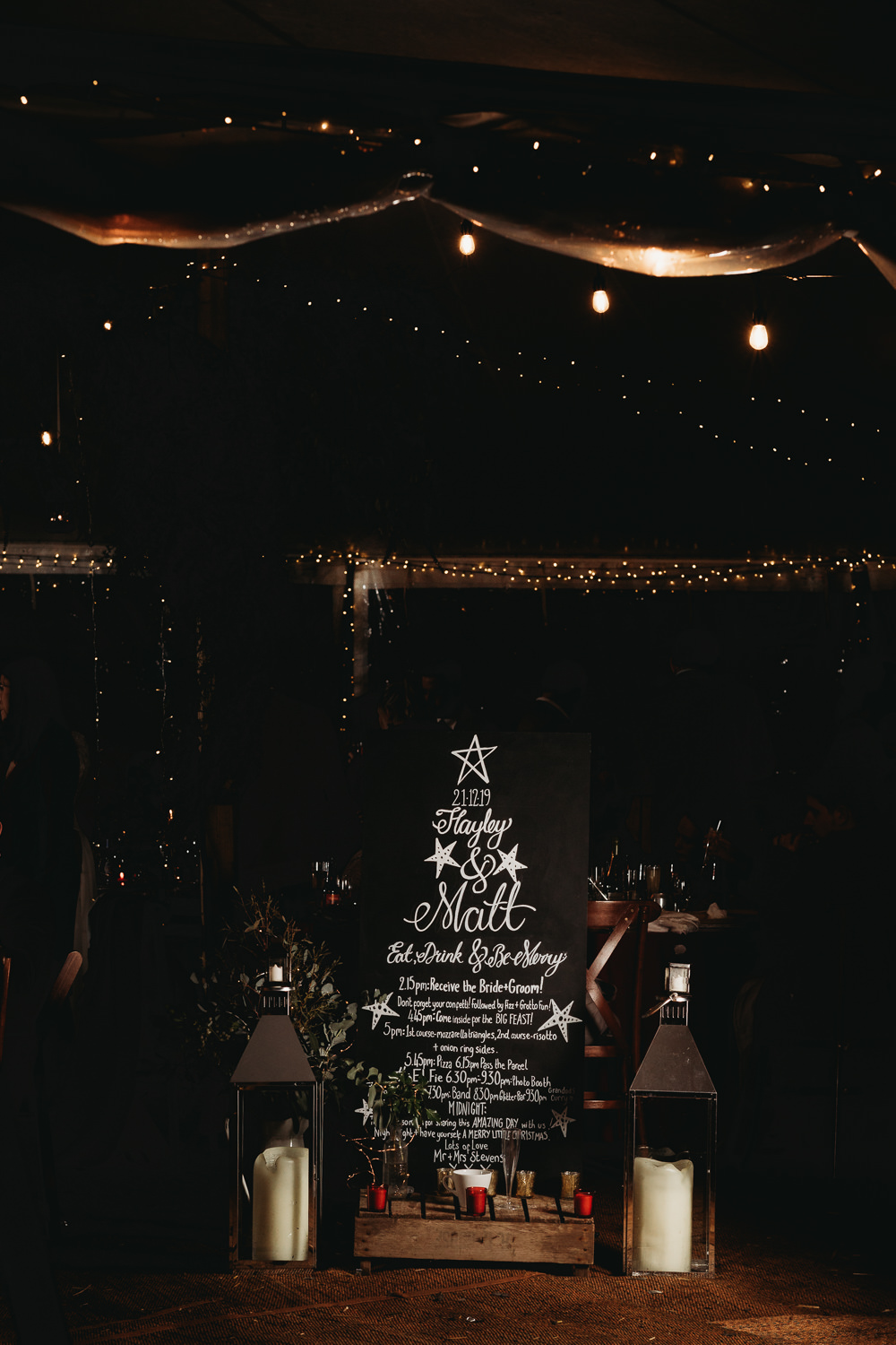 Sign Signs Signage Chalk Board Christmas Marquee Wedding Thyme Lane Photography