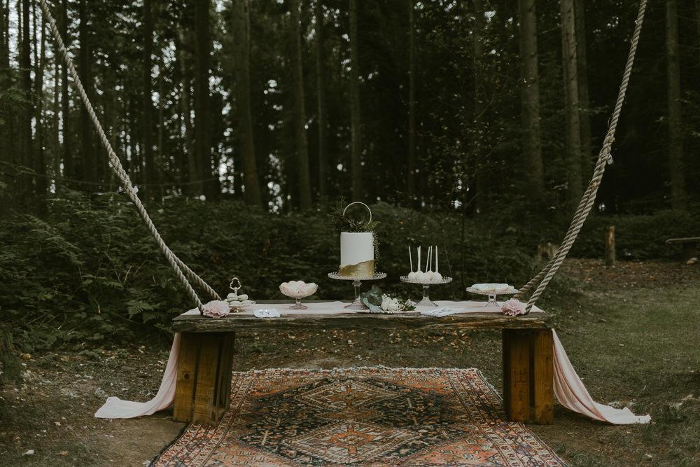 Cake Table Dessert Dreamy Woodland Wedding Ideas Jasmine Andrews Photography
