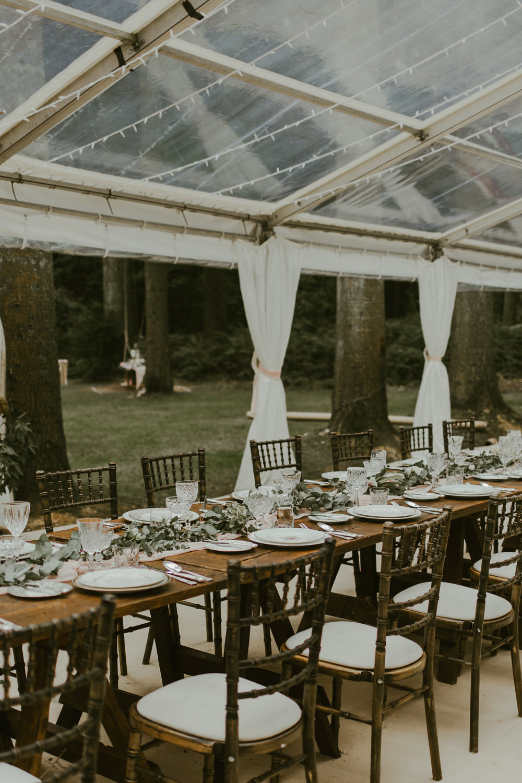 Table Tablescape Decor Greenery Foliage Table Runner Dreamy Woodland Wedding Ideas Jasmine Andrews Photography