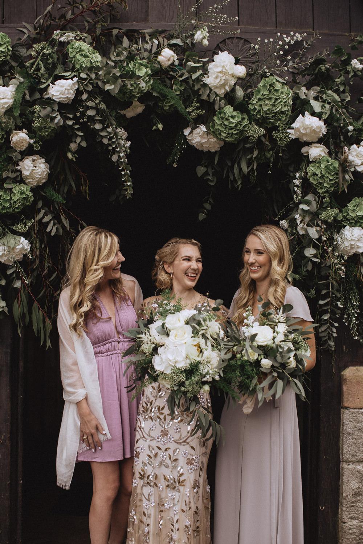 Bridesmaids Bridesmaid Dress Dresses Pink Natural Marquee Wedding Fox & Bear Photography