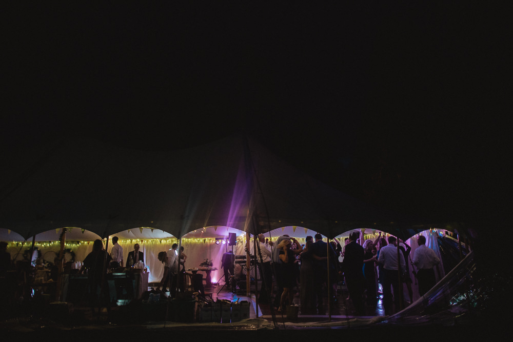 Pole Tent Lighting Evening Natural Marquee Wedding Fox & Bear Photography
