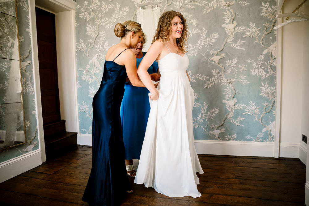 Charlie Brear Two Piece Skirt Top Dress Gown Bride Bridal Sperry Tent Wedding Hayley Baxter Photography