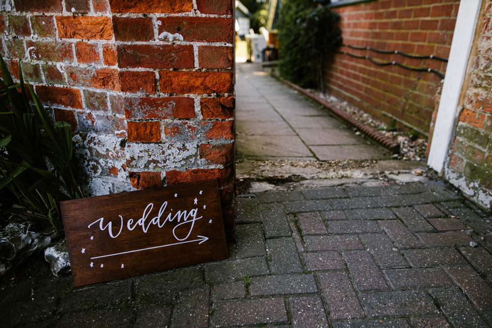 Wooden Sign Signs Signage Signpost Titchwell Manor Wedding Honey and The Moon Photography