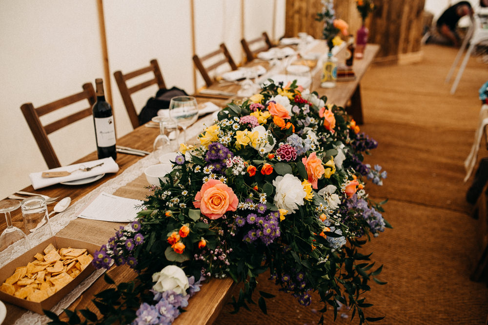 Top Table Flowers Orange Rose Tree Cathedral Wedding Milton Keynes Miracle Moments