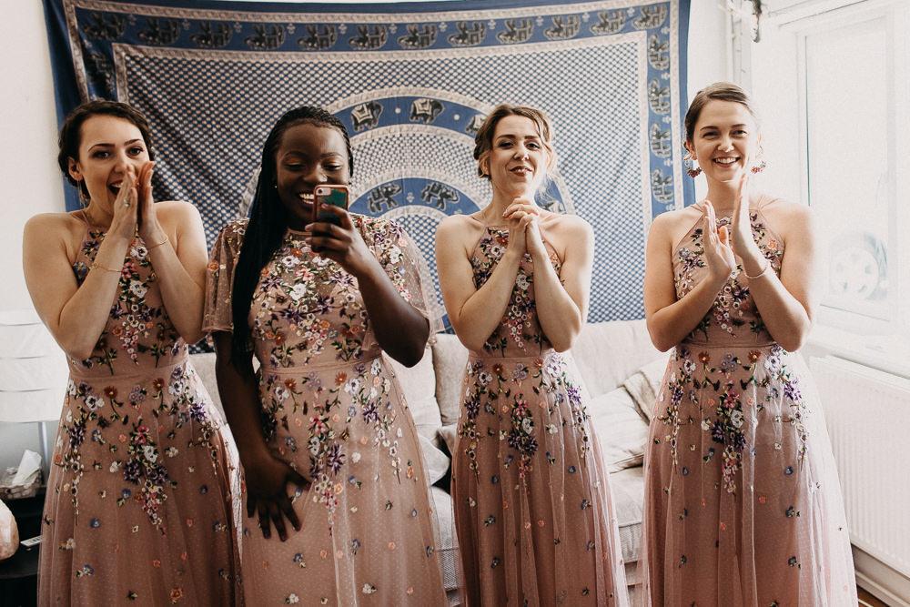 Bridesmaids Bridesmaid Dress Dresses Pink Tree Cathedral Wedding Milton Keynes Miracle Moments