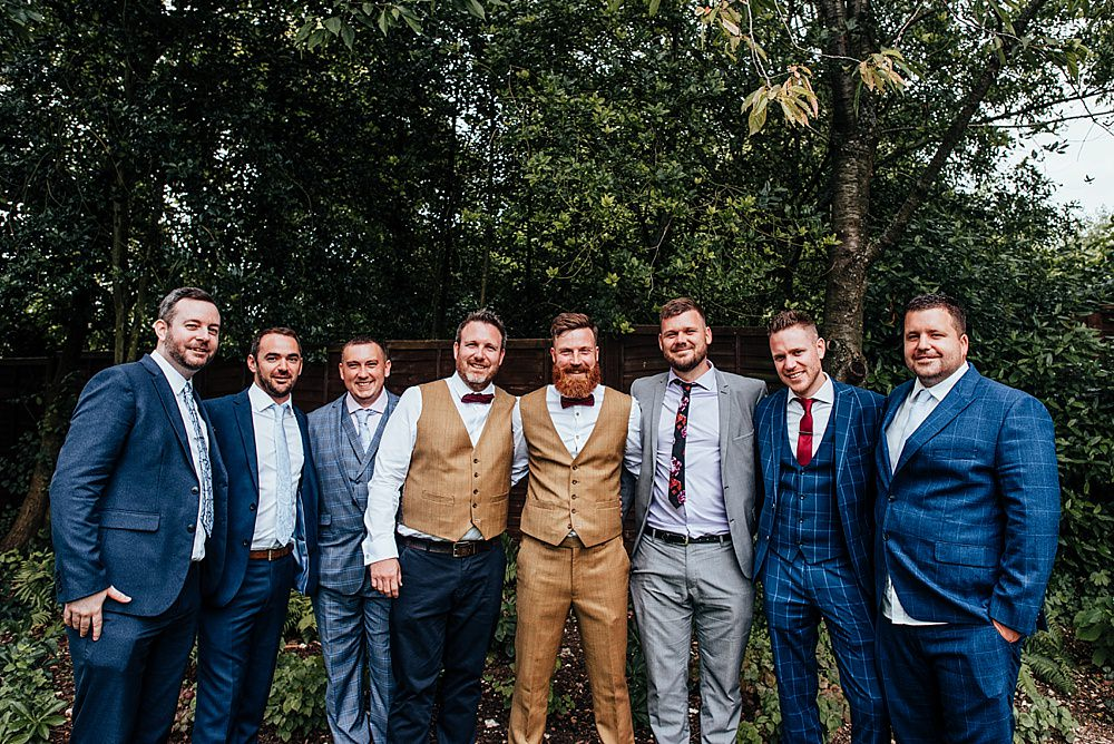 Groom Groomsmen Suits Boho Rustic Wedding This and That Photography