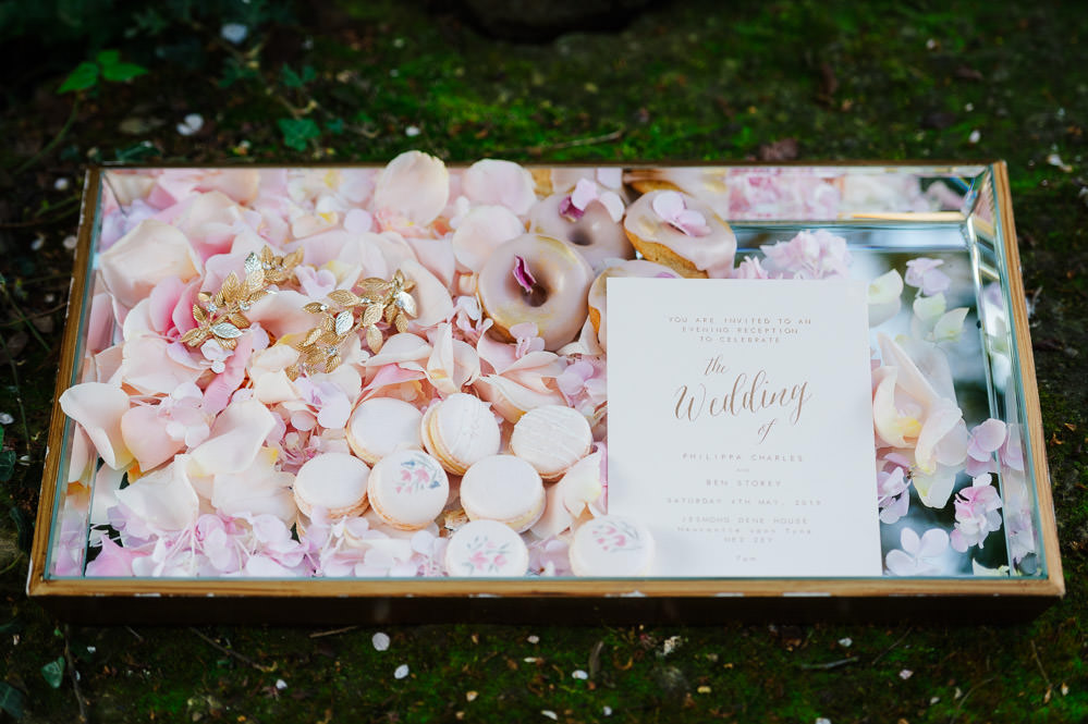 Pink Macarons Donuts Cherry Blossom Wedding Ideas Sugarbird Photography