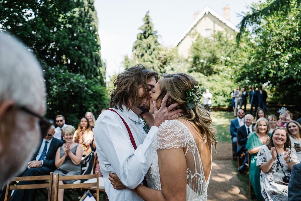 Woodland Outdoor Ceremony Lodge Farm Wedding David Boynton Wedding Photography
