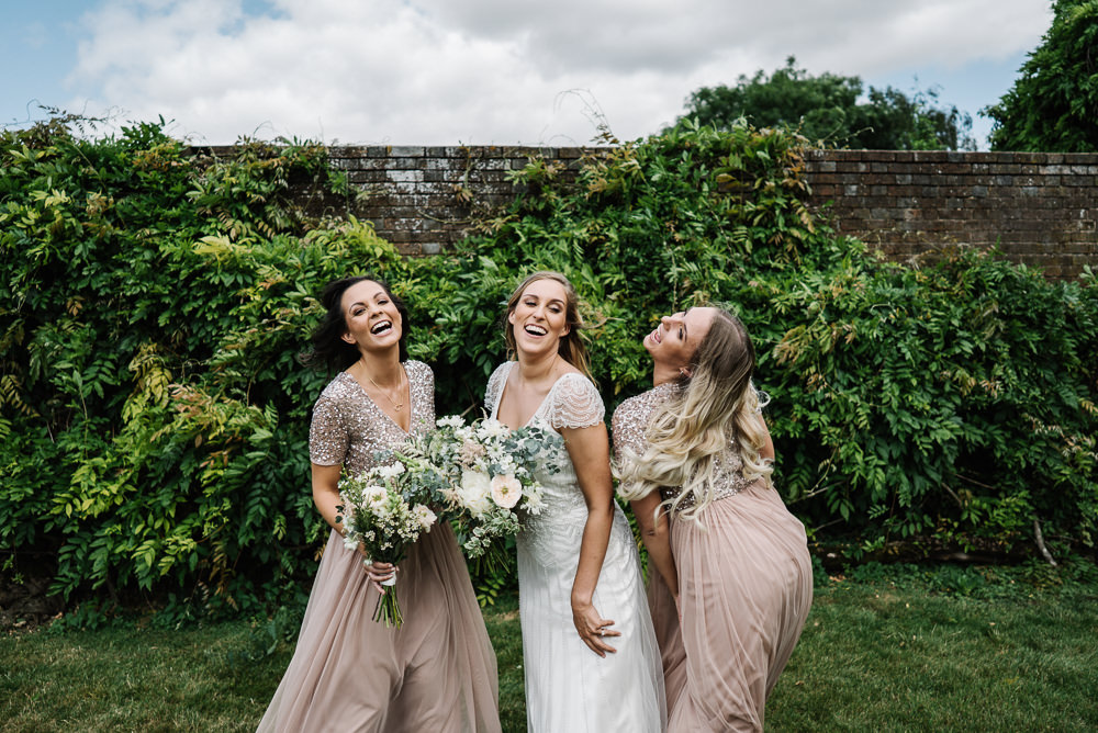 Bridesmaid Bridesmaids Dress Dresses Pale Pink Lodge Farm Wedding David Boynton Wedding Photography