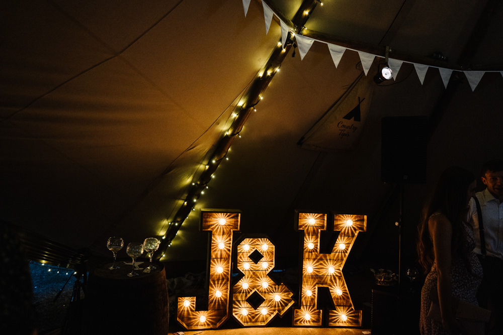 Letter Lights Lodge Farm Wedding David Boynton Wedding Photography