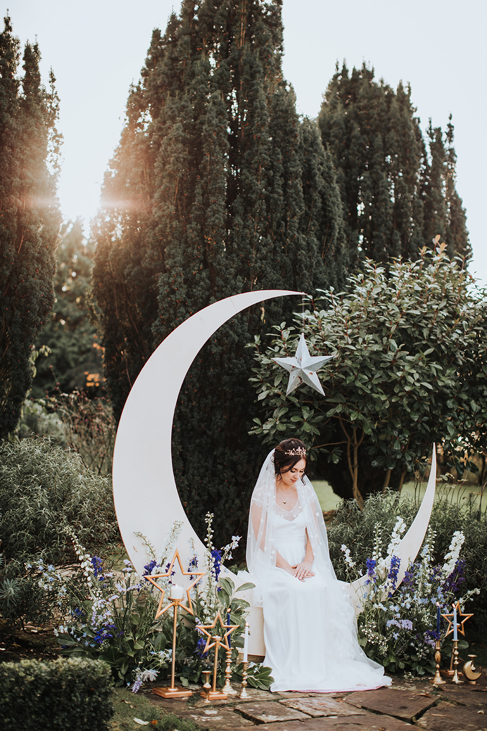 Backdrop Moonbooth Photo Booth Decor Decoration Flowers Candles Moon Stars Wedding Ideas Olegs Samsonovs Photography