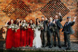 Bridesmaids Bridesmaid Dress Dresses Red Shustoke Barn Wedding Oxi Photography