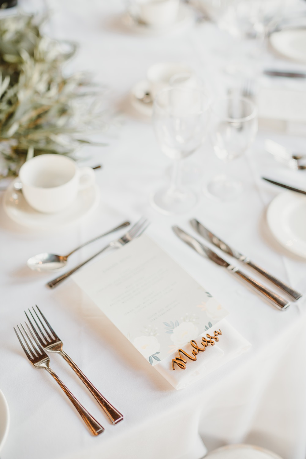 Laser Cut Place Name Setting York Minster Wedding Amy Lou Photography