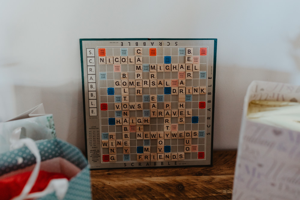 Scrabble Art Decor Arches Dean Clough Wedding Stevie Jay Photography