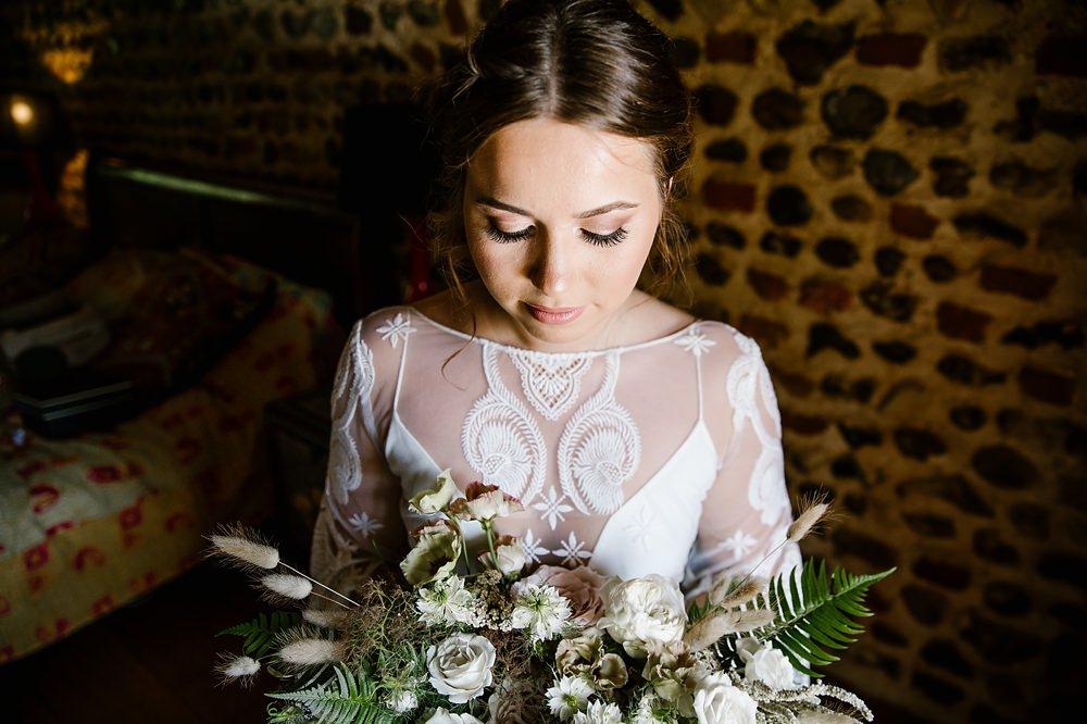 Bride Bridal Make Up Chaucer Barn Wedding Katherine Ashdown Photography