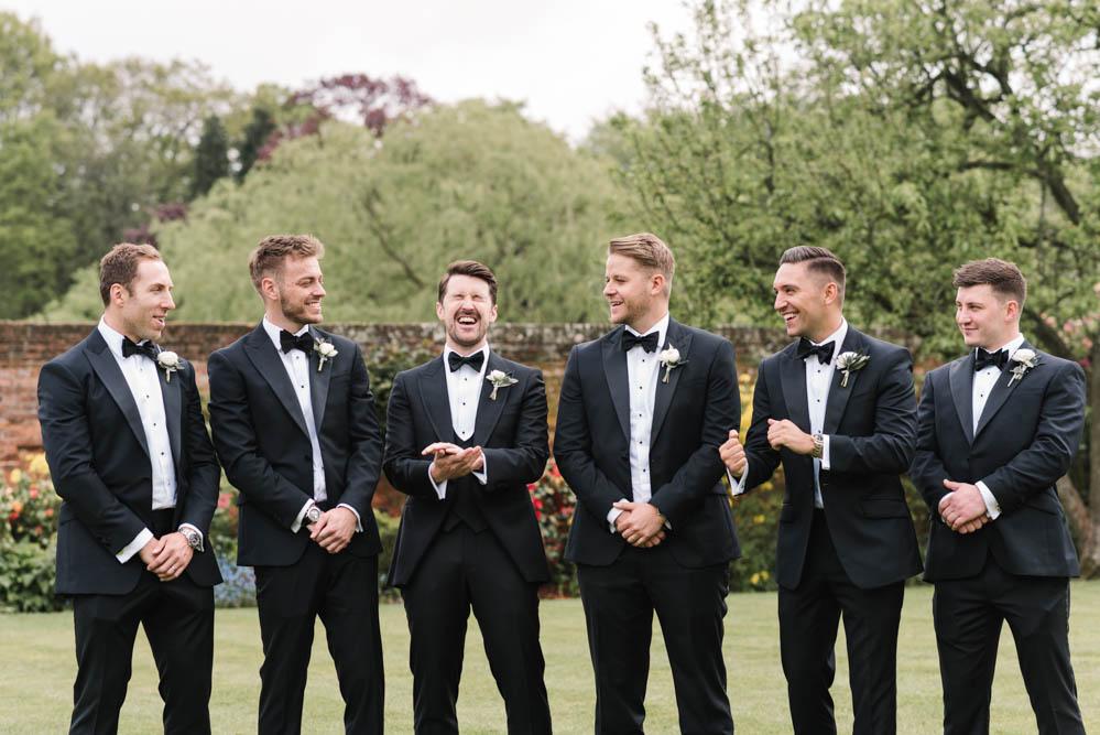 Groom Suit Braces Bow Tie Tux Tuxedo Groomsmen Dove Grey Wedding Danielle Smith Photography