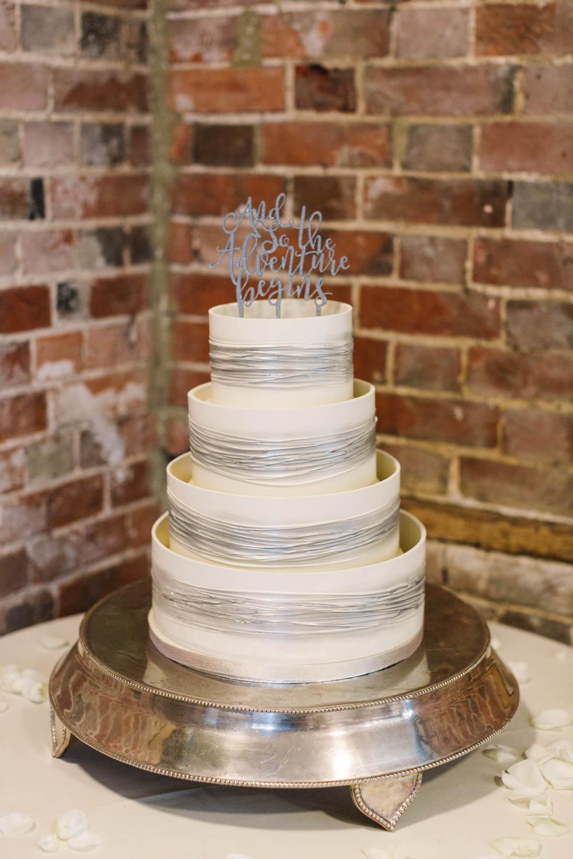 Iced Cake Silver Topper Dove Grey Wedding Danielle Smith Photography