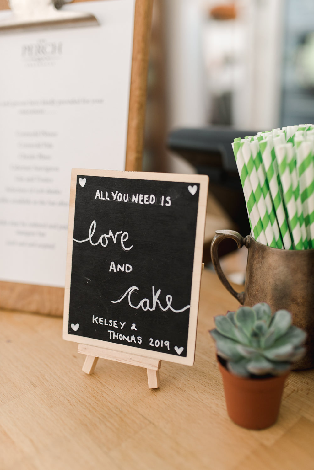 Cake Sign Signs Signage Perch Inn Wedding Captured By Katrina