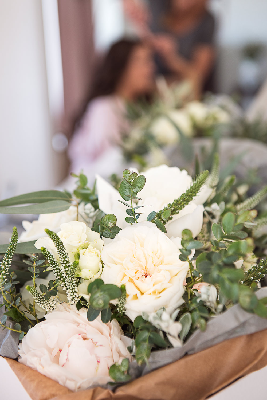 Bouquet Flowers Bride Bridal Ivory Rose Peony Eucalyptus Sopley Lake Wedding One Thousand Words